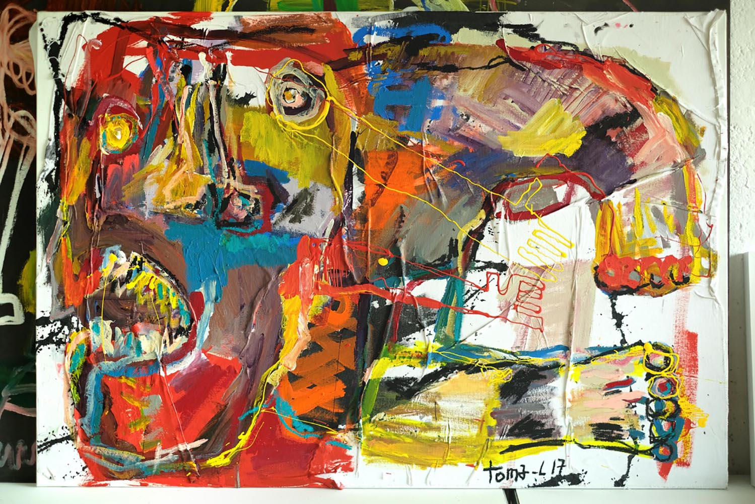 Trash and color Technique mixte sur toile.