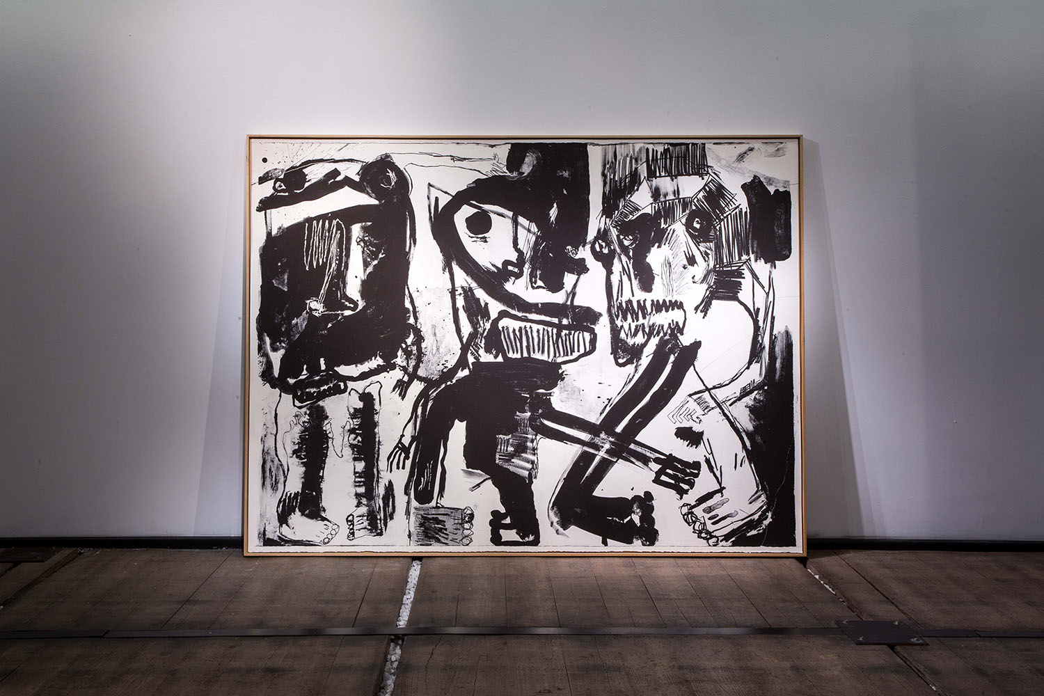 Black colors and stone age Lithographie sur papier